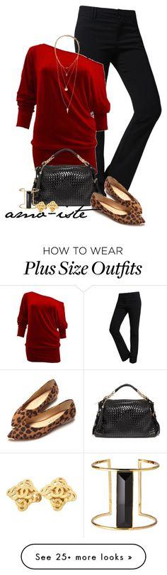 """Work Wear - Plus Size"" by amo-iste on Polyvore featuring mode, LE3NO, Bebe, H&M, Rachel Zoe et Chanel"