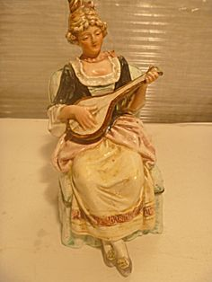 Vintage Continental Figurine Fabulous 7' 'x 3'' 19th