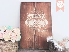 Aim For the Mountains  Hand painted Wooden by TheWoodhouseMouse