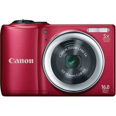 Canon PowerShot A810 16.0 MP Digital Camera with 5x Digital Image Stabilized Zoom 28mm Wide-Angle Lens with 720p HD Video Recording (Red) by Canon. $88.00. From the Manufacturer                       From the Manufacturer    Beautiful Images and Stunning Video Made Easy The PowerShot A810 digital camera delivers real value: excellent, easy-to-achieve image quality at an affordable price. With Smart Auto, there's no fussing with camera settings; the camera automatically optimiz...