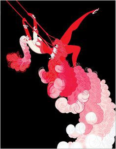 At the Theatre, Trapeze- Erte - WikiPaintings.org