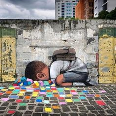 """Seth Globepainter, """"Under the Pavement"""" in Island of Mauritius, 2016"""