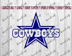 SVG COWBOYS DALLAS star and logo digital vector by MamaCraft4You