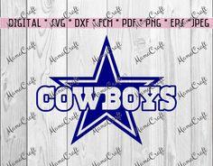 SVG COWBOYS DALLAS star and logo digital vector by MamaCraft4You