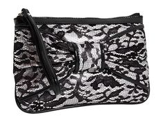 'NWT - Betsey Johnson Black Royal Lace Wristlet' is going up for auction at 11am Thu, Aug 22 with a starting bid of $25.