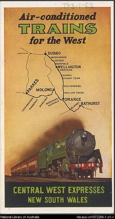 Railways (N.S.W.) .Australia Trains for the West.