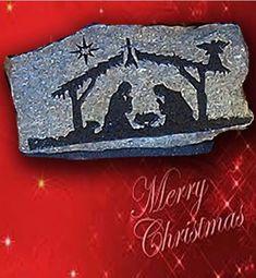 Nativity Scene,engraved stone, stone nativity scene, Christmas gifts, engraved nativity, Manger scene, Nativity set