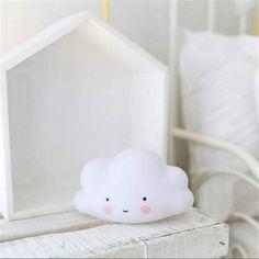 Cute Smile White Cloud Night Light Ins Hote Cute Mini LED Cloud Lamp Kids Children Nursery Living Room Decor Baby Xmas Gift