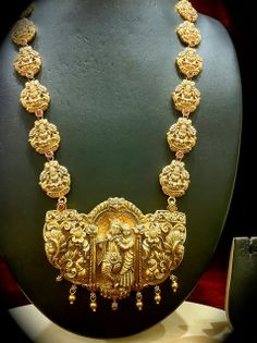 Gold Long Chain - Indian Jewellery Designs South Jewellery