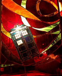 #DoctorWho TARDIS Stained Glass Panel