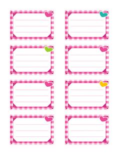 Etiquettes pour cahiers à imprimer : décoration vichy Imprimer cette planche d'étiquettes pour cahiers gratuitement en PDF (format A4) Printable Name Tags, Printable Labels, Printables, Name Tag For School, Education Clipart, Vichy Rose, Quilting Stitch Patterns, Flower Outline, Kids Labels