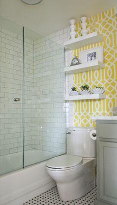Banheiro ganha jovialidade após reforma