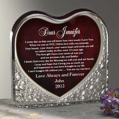 OMG this is so romantic I could cry! You can create a Love Letter Sculpture so you'll always have his or her special words on display! This is so romantic and I'd LOVE to receive one of these on Valentine's Day! #GiftsFromTheHeart