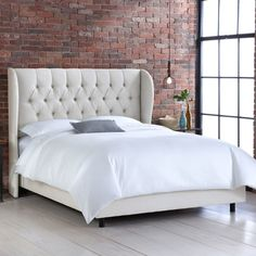 Found it at Wayfair - Jeffcoat Upholstered Panel Bed