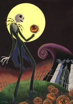 jack the pumpkin king the nightmare befoer christmas!! i love halloween