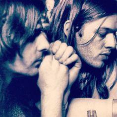 Rick Wright and David Gilmour