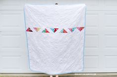 Half Square Triangle Quilt Backing | happy together