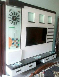 Really very nice Lcd Wall Design, Lcd Unit Design, Tv Set Design, Sofa Design, Living Room Tv Unit Designs, Wall Unit Designs, Tv Stand Designs, Beautiful Bed Designs, Wooden Window Design
