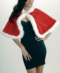 Take a look at this Red & White Fuzzy Holiday Stole - Women by Forum Novelties on #zulily today!