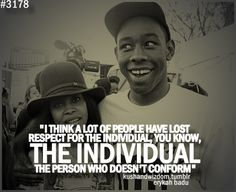 Tyler The Creator Quotes Mesmerizing Tyler The Creator Quote  Ofwgkta Odd Future Tyler Everything