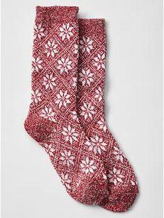 Snowflake socks   Gap