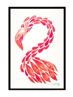 Miami Flamingo by Cat Coquillette (Framed Canvas) on Gilt