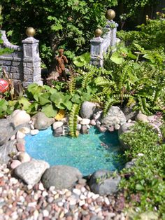Mini Garden Pond - How to - this is a newsletter site with lots of good miniature info!