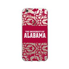 University of Alabama Clear Phone Case, Painted