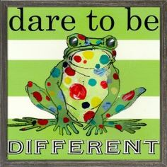 Dare to be Different Frog Mini Framed Canvas Art