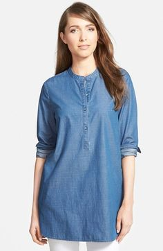 Nordstrom Collection Denim Tunic Shirt available at #Nordstrom