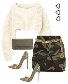 """""""Untitled #104"""" by badassyella ❤ liked on Polyvore featuring Yves Saint Laurent, Christian Louboutin, Chanel, Retrò and Liebeskind"""