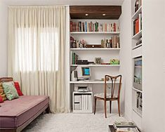 Good idea for a second bedroon Architecture Design, Bookcase, Sweet Home, Shelves, Living Room, Furniture, Home Decor, Tv, Drywall