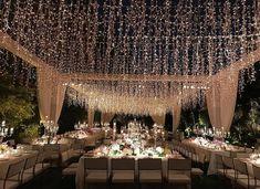 20 Magical Wedding Lights You Just Have To Notice weddingreceptiondecor nighttimeweddingdecor weddingtwinklelightss Wedding Reception Ideas, Outdoor Wedding Decorations, Wedding Themes, Wedding Tips, Wedding Events, Wedding Ceremony, Wedding Hacks, Tent Wedding, Aisle Decorations