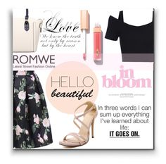 """""""Romwe #7"""" by selmagorath ❤ liked on Polyvore featuring Charlotte Tilbury, women's clothing, women, female, woman, misses and juniors"""