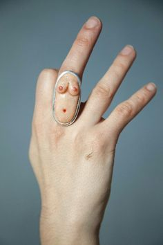 Funky and weird sexy ring by Polina Verbytska, available on Etsy #weird_jewelry #strange_jewelry #bizarre_art #odd_ring  https://www.etsy.com/listing/589992641/fun-gift-sexy-statement-ring-buttocks?ref=shop_home_active_3