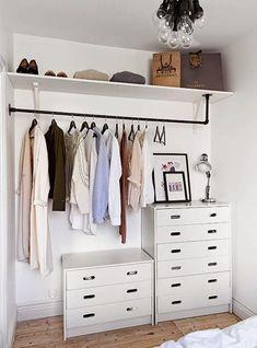armário aberto