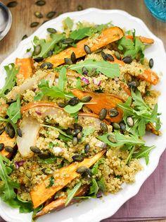 Süßkartoffel-Birnen Salat mit Quinoa