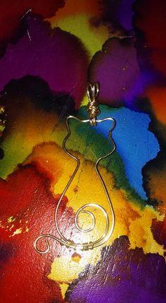Wire wrap cat pendant