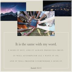 Verse of the Bible, Open your heart and God will speak to you. Business Prayer, Isaiah 55 11, Youversion Bible, Amplified Bible, Saints And Sinners, Jesus Christus, New International Version, Gods Promises, Verse Of The Day