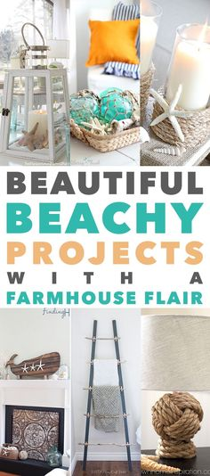 Would you like to add a Beachy touch to your Farmhouse…a little glimmer Nautical charm without going overboard? Well we just might have the perfect accessory for your today in our newest collection of Beautiful Beach Project with Farmhouse Flair! Something for room in the home. From Weathered Mirrors to Handmade Oar Wall Art to …