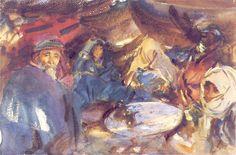 John Singer Sargent - Arab Gypsies in a Tent