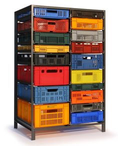 From the Archive—Mark van der Gronden's Storage Furniture from Repurposed Industrial Crates - Core77