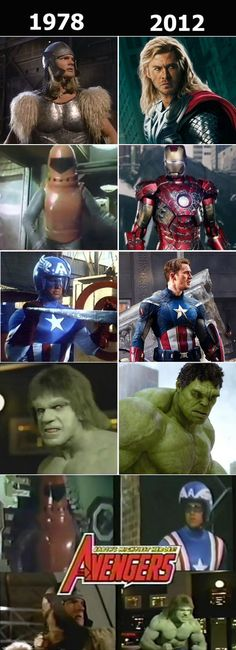 Avengers then and now
