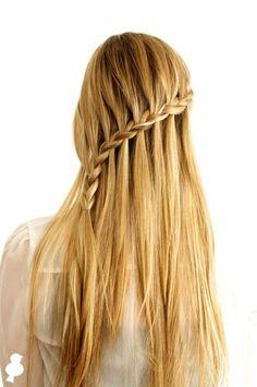 DIY Wedding Hair : DIY Crossover Cascade Braid