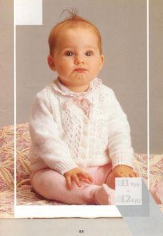 Patons 792 10 Baby Knits Patterns - Free Baby Knitting Easy Baby Knitting Patterns, Baby Knitting Free, Baby Cardigan Knitting Pattern Free, Crochet Baby Sweaters, Baby Sweater Patterns, Knitting For Kids, Baby Patterns, Knit Patterns, Cardigan Pattern