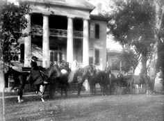 Florida Memory - Group on horseback in front of plantation home - Pensacola, Florida