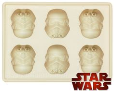 Star Wars Stormtrooper Ice Cube Tray! Throw an awesome Star Wars themed party with these amazing Ice Cube trays! Sure to impress kids and adults alike!