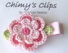 Flower crochet clip