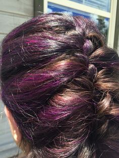 Amethyst purple highlights...