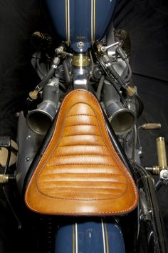 Leather seat #motorcycle